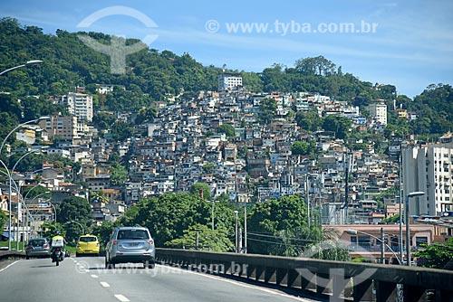 Vista do Morro da Coroa a partir do Viaduto Trinta e Um de Março  - Rio de Janeiro - Rio de Janeiro (RJ) - Brasil