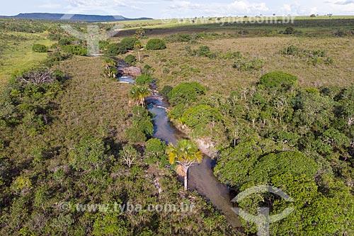 Foto feita com drone do Rio Água Limpa  - Caiapônia - Goiás (GO) - Brasil