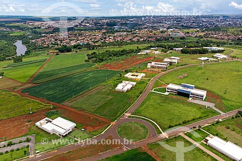 Foto feita com drone da Universidade Federal de Jataí  - Jataí - Goiás (GO) - Brasil