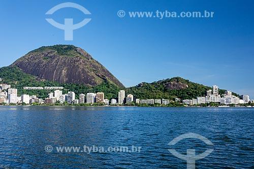 Vista da Lagoa Rodrigo de Freitas com o Morro dos Cabritos ao fundo  - Rio de Janeiro - Rio de Janeiro (RJ) - Brasil