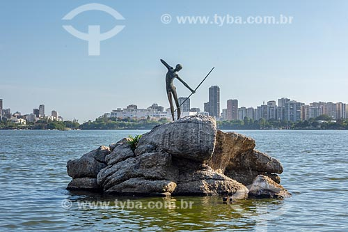 Escultura O Curumim (1979) na Lagoa Rodrigo de Freitas  - Rio de Janeiro - Rio de Janeiro (RJ) - Brasil