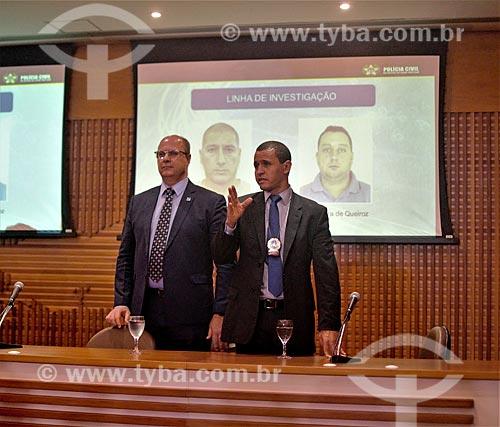 Governador Wilson Witzel na coletiva de imprensa sobre a prisão dos acusados do assassinato da Veradora Marielle Franco  - Rio de Janeiro - Rio de Janeiro (RJ) - Brasil