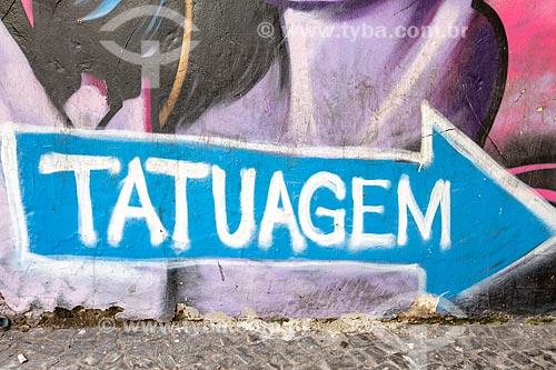 Detalhe de letreiro com o dizer: Tatuagem  - Rio de Janeiro - Rio de Janeiro (RJ) - Brasil