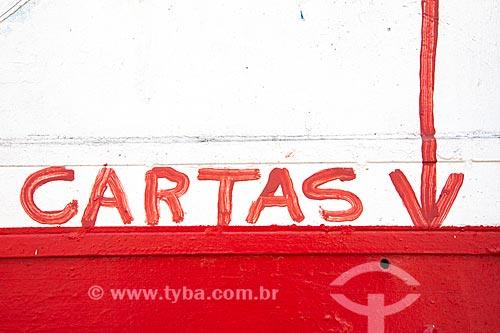Detalhe de letreiro com o dizer: cartas  - Rio de Janeiro - Rio de Janeiro (RJ) - Brasil