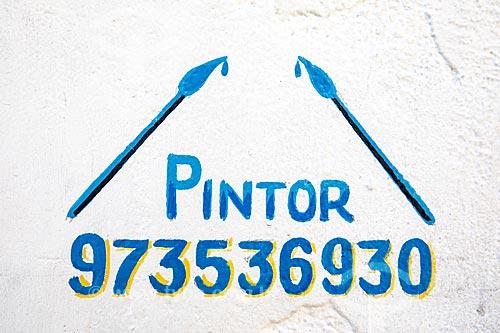 Detalhe de letreiro com o dizer: pintor  - Rio de Janeiro - Rio de Janeiro (RJ) - Brasil