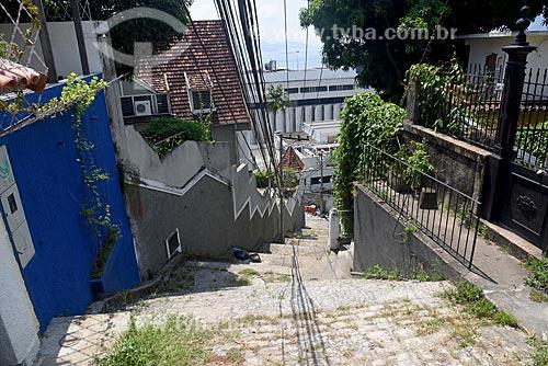 Escadaria com a Rua do Russel ao fundo  - Rio de Janeiro - Rio de Janeiro (RJ) - Brasil