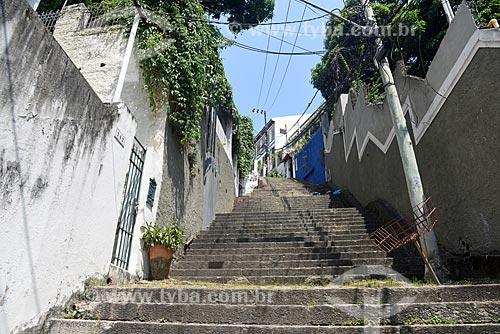Vista de escadaria a partir da Rua do Russel  - Rio de Janeiro - Rio de Janeiro (RJ) - Brasil