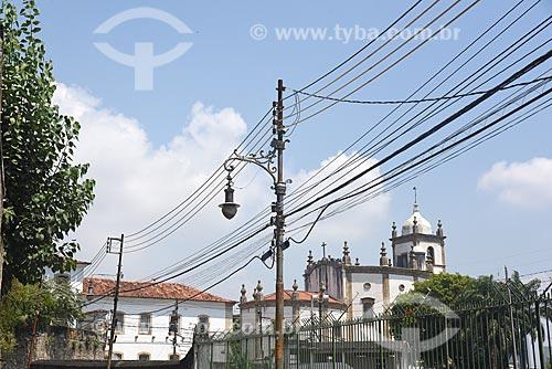 Vista da Rua do Russel com a Igreja de Nossa Senhora da Glória do Outeiro (1739) ao fundo  - Rio de Janeiro - Rio de Janeiro (RJ) - Brasil