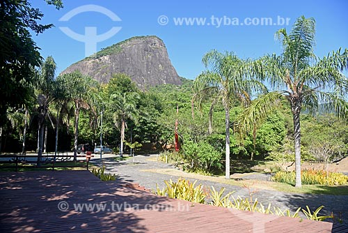 Vista do Morro Dois Irmãos a partir do Parque Natural Municipal Penhasco Dois Irmãos  - Rio de Janeiro - Rio de Janeiro (RJ) - Brasil