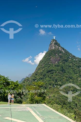 Vista do Cristo Redentor a partir do Mirante Dona Marta  - Rio de Janeiro - Rio de Janeiro (RJ) - Brasil