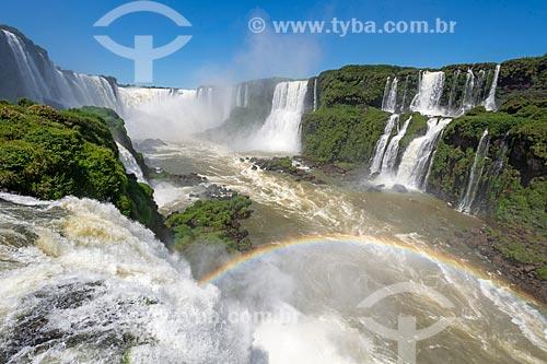 Vista da Garganta do Diabo no Parque Nacional do Iguaçu  - Foz do Iguaçu - Paraná (PR) - Brasil