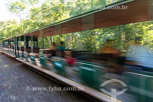 Passeio turístico no Trem Ecológico da Selva - que faz o passeio turístico dentro do Parque Nacional do Iguaçu  - Puerto Iguazú - Província de Misiones - Argentina