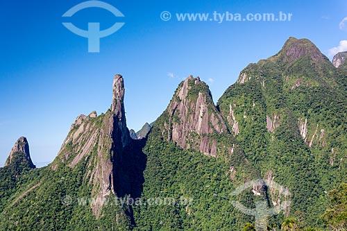 Vista dos Picos do Dedo de Nossa Senhora, Dedo de Deus, Cabeça de Peixe e Santo Antônio  - Teresópolis - Rio de Janeiro (RJ) - Brasil