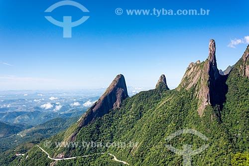 Vista dos Picos do Escalavrado, Dedo de Nossa Senhora e Dedo de Deus  - Teresópolis - Rio de Janeiro (RJ) - Brasil