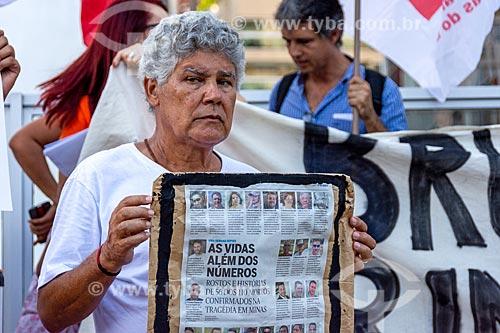 Manifestação na Avenida Praia de Botafogo depois do rompimento de barragem de rejeitos de mineração da Companhia Vale do Rio Doce em Brumadinho (MG)  - Rio de Janeiro - Rio de Janeiro (RJ) - Brasil