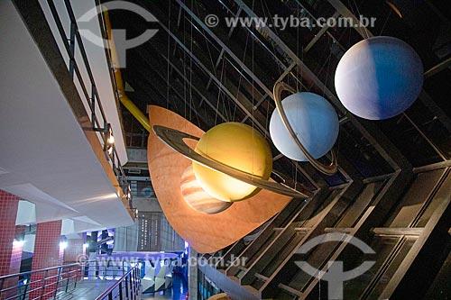 Réplica de sistema solar em exibição na Fundação Planetário da Cidade do Rio de Janeiro  - Rio de Janeiro - Rio de Janeiro (RJ) - Brasil