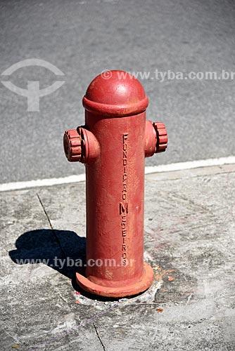 Detalhe de hidrante em rua  - Rio de Janeiro - Rio de Janeiro (RJ) - Brasil