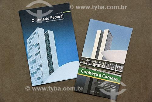 Folders distribuídos na visita guiada ao Congresso Nacional  - Rio de Janeiro - Rio de Janeiro (RJ) - Brasil