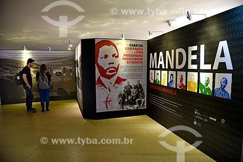 Exposição pela celebração do aniversário de 100 anos de nascimento de Nelson Mandela  no Palácio do Itamaraty  - Brasília - Distrito Federal (DF) - Brasil