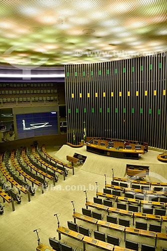 Interior da Câmara dos Deputados  - Brasília - Distrito Federal (DF) - Brasil