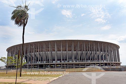 Fachada do Estádio Nacional de Brasília Mané Garrincha (1974)  - Brasília - Distrito Federal (DF) - Brasil