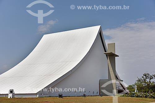 Fachada da Catedral Militar Rainha da Paz (1994)    - Brasília - Distrito Federal (DF) - Brasil
