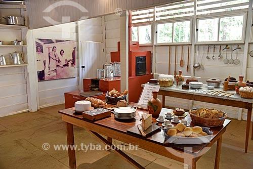 Réplica da cozinha do Museu do Catetinho (1956) - primeira residência oficial do presidente Juscelino Kubitschek no novo Distrito Federal na época da construção de Brasília  - Brasília - Distrito Federal (DF) - Brasil