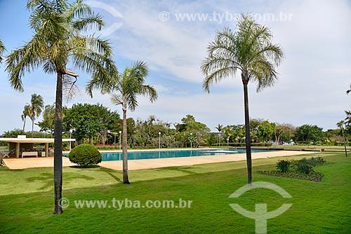 Piscina no Palácio da Alvorada - residência oficial do Presidente do Brasil  - Brasília - Distrito Federal (DF) - Brasil