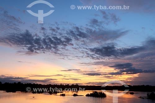 Vista do amanhecer a partir do Rio Purus  - Boca do Acre - Amazonas (AM) - Brasil