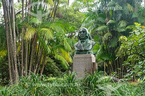 Busto de Auguste de Saint-Hilaire - botânico, naturalista e viajante francês - no Jardim Botânico do Rio de Janeiro  - Rio de Janeiro - Rio de Janeiro (RJ) - Brasil