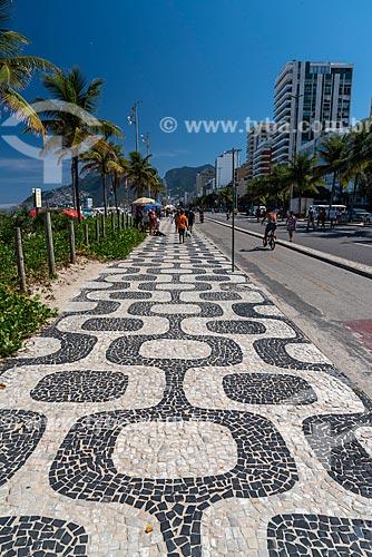 Vista da orla da Praia de Ipanema  - Rio de Janeiro - Rio de Janeiro (RJ) - Brasil