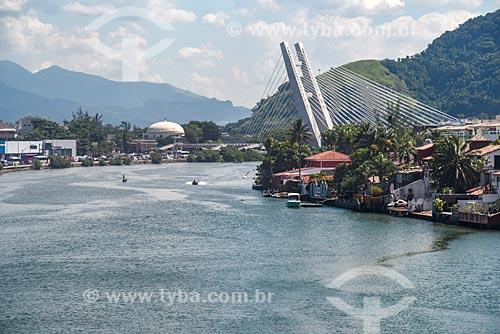 Ponte estaiada na linha 4 do Metrô Rio com o Canal da Joatinga  - Rio de Janeiro - Rio de Janeiro (RJ) - Brasil