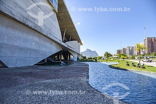 Vista do Pedra da Gávea a partir da Cidade das Artes - antiga Cidade da Música  - Rio de Janeiro - Rio de Janeiro (RJ) - Brasil