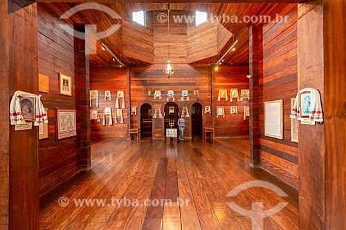 Interior do Memorial Ucraniano no Parque Tingui  - Curitiba - Paraná (PR) - Brasil