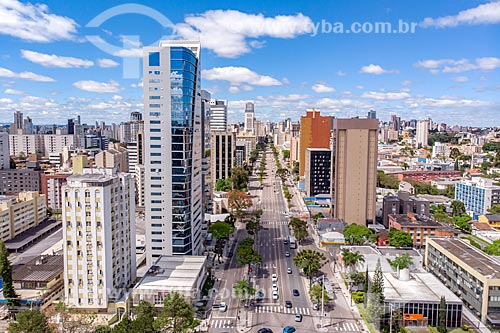Foto feita com drone da Avenida Cândido de Abreu  - Curitiba - Paraná (PR) - Brasil