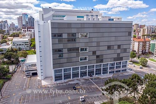 Foto feita com drone do Palácio da Justiça - sede do Tribunal de Justiça do Paraná  - Curitiba - Paraná (PR) - Brasil