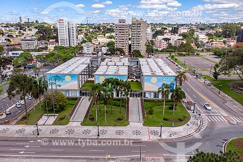 Foto feita com drone do Palácio Vinte e Nove de Março - sede da prefeitura de Curitiba  - Curitiba - Paraná (PR) - Brasil