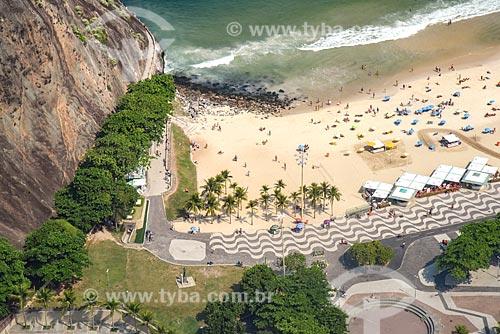 Foto aérea do Mirante do Leme - também conhecido como Caminho dos Pescadores - com a Praia do Leme  - Rio de Janeiro - Rio de Janeiro (RJ) - Brasil