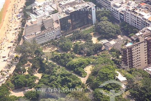 Foto aérea do Parque Garota de Ipanema (1978)  - Rio de Janeiro - Rio de Janeiro (RJ) - Brasil