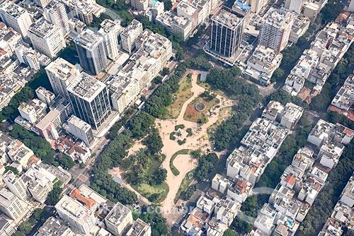 Foto aérea da Praça Nossa Senhora da Paz  - Rio de Janeiro - Rio de Janeiro (RJ) - Brasil