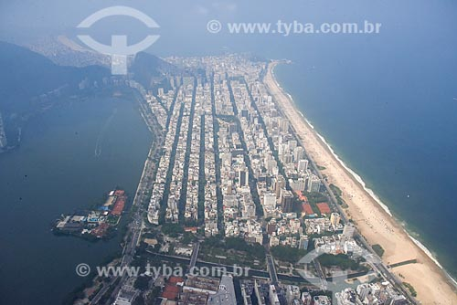 Foto aérea do bairro de Ipanema  - Rio de Janeiro - Rio de Janeiro (RJ) - Brasil