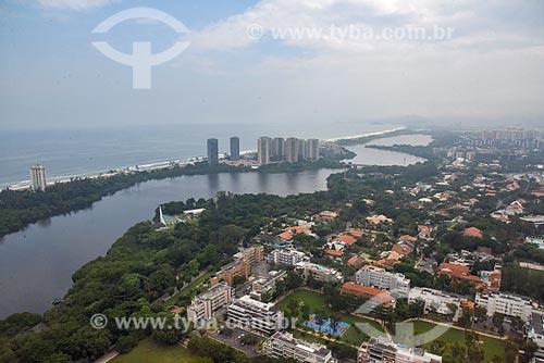 Foto aérea da Lagoa de Marapendi  - Rio de Janeiro - Rio de Janeiro (RJ) - Brasil