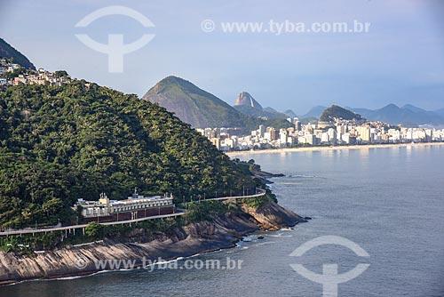 Foto aérea do Motel Vips com a Praia de Ipanema e o Pão de Açúcar ao fundo  - Rio de Janeiro - Rio de Janeiro (RJ) - Brasil