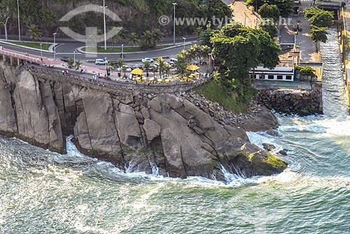 Foto aérea do Mirante do Leblon  - Rio de Janeiro - Rio de Janeiro (RJ) - Brasil
