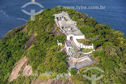 Foto aérea do Forte Duque de Caxias - também conhecido como Forte do Leme  - Rio de Janeiro - Rio de Janeiro (RJ) - Brasil