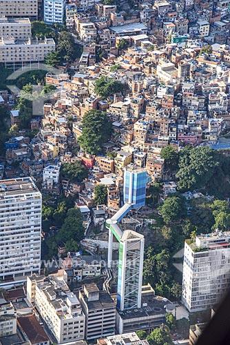 Foto aérea do Complexo Rubem Braga com a Favela do Cantagalo  - Rio de Janeiro - Rio de Janeiro (RJ) - Brasil