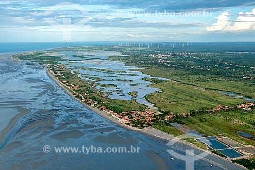 Foto feita com drone da orla da cidade de Icapuí  - Icapuí - Ceará (CE) - Brasil