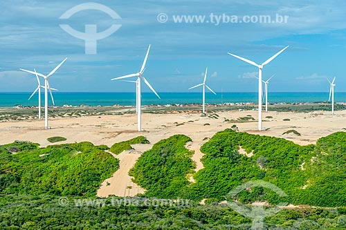 Foto feita com drone do Parque Eólico de Beberibe  - Beberibe - Ceará (CE) - Brasil