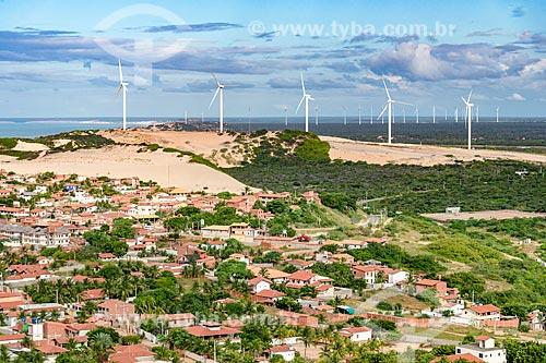 Foto feita com drone do Parque Eólico Canoa Quebrada  - Aracati - Ceará (CE) - Brasil
