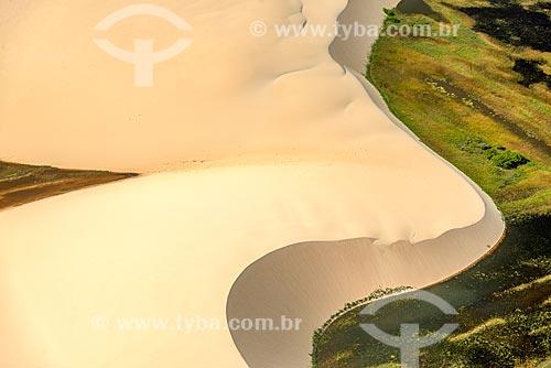 Foto feita com drone de dunas no Delta do Parnaíba  - Ilha Grande - Piauí (PI) - Brasil
